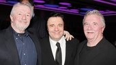 Nathan Lane is surrounded by his supportive brothers, Robert and Daniel, on opening night.
