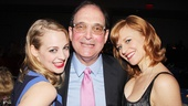Lewis J. Stadlen has his Nance co-stars Jenni Barber and Megan Sikora on each arm.