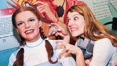 Nicole Parker taps into her inner Elphaba at the sight of Madame Tussauds' Dorothy. I'll get you, my pretty!