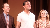 Joey Slotnick, Bobby Cannavale and Marin Ireland take the stage for their opening night curtain call in The Big Knife.