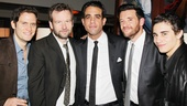 Get a load of these handsome hunks: Steven Pasquale, Dallas Roberts, Bobby Cannavale, Jason Butler Harner and Jake Cannavale.