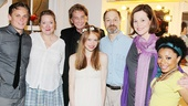 The cast of Vanya and Sonia and Masha and Spike surrounds their special guest for one final photo. From left: Billy Magnussen, Kristine Nielsen, Barry Manilow, David Hyde Pierce, Genevieve Angelson, Sigourney Weaver and Shalita Grant.