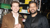 Stark Sands also shares a moment with pop superstar (and Broadway headliner) Ricky Martin.