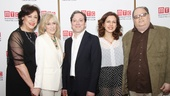 Director Lynne Meadow and playwright Richard Greenberg bookend star trio Judith Light, Jeremy Shamos and Jessica Hecht.