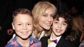 Judith Light gets between her pint-sized co-star Alex Dreier (r.), who plays Timmy, and his understudy Stephen McGahan.