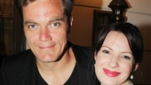 Grace co-stars and real-life couple Michael Shannon and Kate Arrington (who appeared in MTC's 2009 production of Richard Greenberg's The American Plan), smile for the cameras.