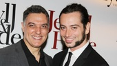 Original Jekyll & Hyde star Robert Cuccioli congratulates Constantine Maroulis on a job well done.