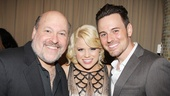 Smash star Megan Hilty congratulates Frank Wildhorn and her boyfriend, Jekyll & Hyde co-star Brian Gallagher, on their opening night.