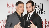 Broadways Jekyll &amp; Hydes Robert Cuccioli and Constantine Maroulis say so long from opening night.