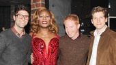 Justin Mikita, Jesse's fiancé, joins him and the Kinky Boots stars for one final photo. Come back soon, guys!
