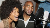 Valisia LeKae and Brandon Victor Dixon channel Diana Ross and Berry Gordy in the studio.