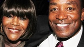 Former Detroit Pistons player Isiah Thomas greets Cicely Tyson—in 2012, Thomas delivered the commencement speech at the Cicely Tyson School of Performing & Fine Arts in New Jersey.