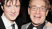 Pippin star Matthew James Thomas and producer Howard Kagan live it up at the bash.