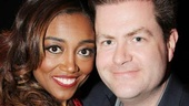 Fabulous, baby! Patina Miller smiles on opening night with Broadway.com Editor-in-Chief Paul Wontorek.