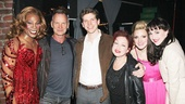 Kinky Boots stars Billy Porter, Stark Sands, Annaleigh Ashford and Celina Carvajal step in for a photo with Sting and Cyndi Lauper.