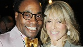 Billy Porter wraps an arm around an equally excited Judith Light.