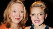 Leading Actress in a Play nominee Kristine Nielsen bonds with Featured Actress in a Musical contender Annaleigh Ashford!