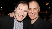 Richard Kind (The Big Knife) shares a laugh with former Dirty Rotten Scoundrels co-star Keith Carradine.
