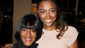 Patina Miller shares a tender moment with The Trip to Bountiful headliner Cicely Tyson.
