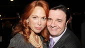 Tony veteran Nathan Lane rubs shoulders with his former Addams Family co-star Carolee Carmello.