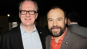 Stage veterans Tracy Letts and Danny Burstein have plenty to gossip about—they've both been to this Tony rodeo before!