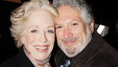 Harvey Fierstein gives a celebratory squeeze to Holland Taylor, who earned her first nomination for Ann.