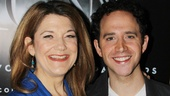 Fairy godmother Victoria Clark and prince Santino Fontana may not interact much in Cinderella, but they can sure light up the red carpet.