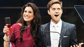 "Stephanie J. Block and Aaron Tveit kick off their presenting banter with the proposition of a new BACA-centric drinking game! First, the rules: ""Drink whenever anyone thanks Mom or the Weisslers!"""