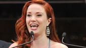 Recent Phantom of the Opera alum Sierra Boggess takes home the trophy for Favorite Replacement. Backstage, she was quick to exclaim, This feels amazing!