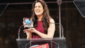 Accepting the honor for Favorite Diva Performance is Tony nominee Stephanie J. Block, who insisted that she wasn't the only diva in the cast of The Mystery of Edwin Drood.