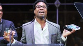 Billy Porter struts his Kinky Boots stuff up on stage to accept the Favorite Actor in a Musical prize, admitting, Its my day offIve been drinking!