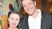 Jennifer Grace and Gareth Saxe, who are making their LCT debuts, come together for an opening night photo.
