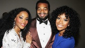 Brandy congratulates Valisia LeKae and Brandon Victor Dixon on their stunning show.