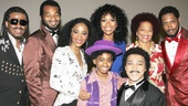 Motown stars Ryan Shaw, Brandon Victor Dixon, Valisia LeKae, Raymond Luke Jr., Charl Brown and Bryan Terrell Clark welcome recording artist Brandy and author Terry McMillan to the Lunt-Fontanne Theatre.