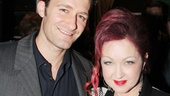 Glee hunk Matthew Morrison shares a moment with pop icon (and Kinky composer) Cyndi Lauper.