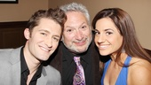 Look who we found! Hairspray's trio of stars Matthew Morrison, Harvey Fierstein and Marissa Jaret Winokur come together for a backstage shot.