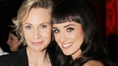 Jane Lynch and her new Annie co-star Brynn OMalley look lovely at the opening night party at Ruby Foo&#39;s!