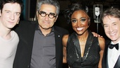 Pippin players Matthew James Thomas and Patina Miller make stage and screen wise guys Eugene Levy and Martin Short honorary members of the circus.