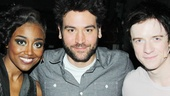 After the show, Tony nominee Patina Miller and Matthew James Thomas meet How I Met Your Mother star Josh Radnor, who plays Ted Mosby on the hit series.