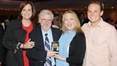 Sigourney Weaver, playwright Christopher Durang, Kristine Nielsen and Bily Magnussen share the love with Vanya and Sonia and Masha and Spike's big Drama League win!