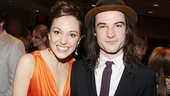 Cinderellas perfect princess Laura Osnes cozies up next to Orphans breakout star Tom Sturridge.