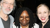 Whoopi says hello to Tony nominee Terrence Mann and his onstage and real-life wife, Charlotte d'Amboise.