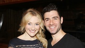 Betsy Wolfe and Adam Kantor are all smiles as they get set to record The Last Five Years.