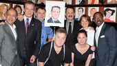 Director George C. Wolfe joins Lucky Guy cast members Christopher McDonald, Brian Dykstra, Peter Gerety, Maura Tierney, Deirdre Lovejoy and Courtney B. Vance in celebrating Tom Hanks' achievement.