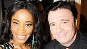 Valisia LeKae shares in the happy celebration with special guest Nathan Lane.