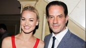 Yvonne Strahovski shares a snapshot with Golden Boy co-star Danny Mastriogiorgio.