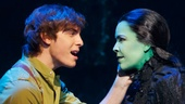 Derek Klena as Fiyero and Lindsay Mendez as Elphaba in Wicked.