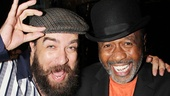 Cast member Eric Anderson goofs around with stage legend Ben Vereen.