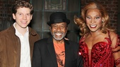 Tony winner Ben Vereen takes in the scene backstage with Kinky Boots' Tony-nominated leads Stark Sands and Billy Porter.