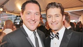 Tony nominee Bertie Carvel grabs a snapshot with Glee star Matthew Morrison.